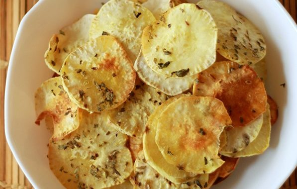 Chips de Batata Doce Assada